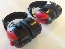 HEADPHONES BULLANT EARMUFFS AM/FM RADIO TUNER~2 PAIRS~ FREE AUSTRALIAN DELIVERY