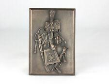 Bronze armorial plaque equipment trumpeter French horse artillery guard 1812-15
