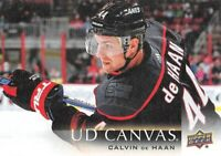 18/19 UPPER DECK UD CANVAS #C136 CALVIN DE HAAN HURRICANES *61677