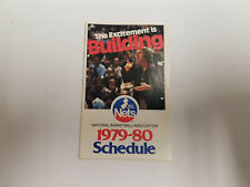 New Jersey Nets 1979/80 NBA Basketball Pocket Schedule - MidLantic