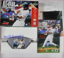NINTENDO 64 GAME COMPLETE ADULT OWNED - ALL STAR BASEBALL 99 - 1998