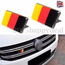 2x Car German Flag Emblem Badge Sticker Decal For VW Golf Jetta Scirocco Benz