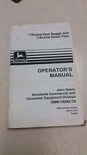 John Deere 7 Bushel Rear Bagger & 7 Buchel Power Flow manual