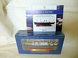 Atlas Edition RMS CELTIC Diecast Model Ship 1:1250 Scale 2017 Boxed SEALED