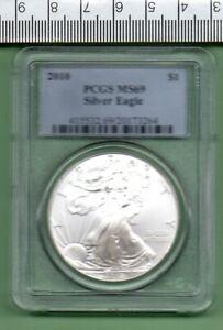 2010 GENUINE U.S.A. SLABBED SILVER EAGLE PCGS MS 69
