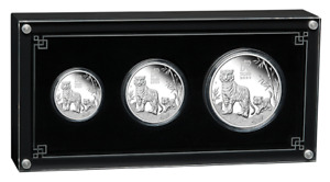 2022 Australia Lunar Year of Tiger 3.50 oz 3-Coin Silver Proof Set - 1,000 Made