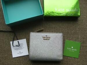 Kate Spade New York Silver Glitter Women's Wallet Never Used in Original Box