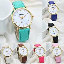 Geneva Women Fashion Watch Design Dial Leather Band Analog Quartz Wrist Watches
