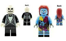 Custom Minifigure Jack Skellington & Sally Nightmare Xmas Printed on LEGO Parts