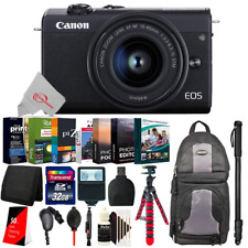 Canon EOS M200 Mirrorless Digital Camera Black with 15-45mm Lens + Accessory Kit