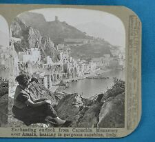 Stereoview Photo Italy Outlook From Capuchin Monastery Over Amalfi Realistic
