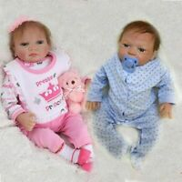 "22"" Full Body Realistic Reborn Dolls Lifelike Baby Boy Girl Newborn Doll Xmas"