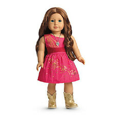 American Girl Saige's SPARKLE DRESS pink outfit boots necklace for sage DOLL
