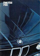 BMW 7-Series E23 1982-83 UK Market Sales Brochure 728i 732i 735i SE