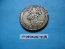 WHITETAIL DEER NATIONAL RIFLE ASSOCIATION BRONZE COIN NICE