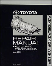 2003-2004 Toyota 4Runner 6 Cyl Automatic Transmission Repair Manual AT Auto Shop