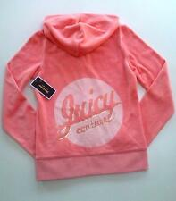 JUICY COUTURE PINK CHEEKS ESCAPE LOGO VELOUR HOODIE S 8 10 £130