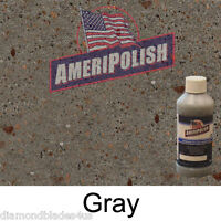 1 GL. Gray CONCRETE COLOR DYE 4 CEMENT, STAIN AMERIPOLISH Solvent based