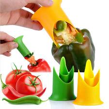 2Pcs Pepper Chili Cutter Tomato Corer Vegetable Slicer Fruit Peeler Kitchen Tool