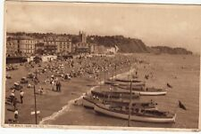 Postcard -  THE BEACH FROM THE PIER, TEIGNMOUTH