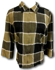Lemon Grass Jacket Blazer Size Medium Green Black Zipper