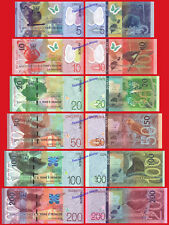 SANTO SAO TOME ST THOMAS FULL SET 5 - 200 Dobras 2018 Polymer Pick NEW UNC