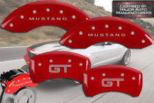 """2007-2008 Ford """"Mustang GT"""" Shelby Front Rear Red MGP Brake Disc Caliper Covers"""