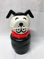 """VTG 1976 9"""" Fisher Price Little People Lucky Dog 659 Toy Stacking Puzzle USA"""