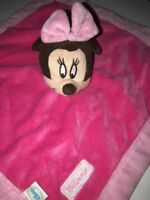 "Disney Minnie Mouse Pink Blanky Security Blanket Plush BABY 13.5"" Lovey"
