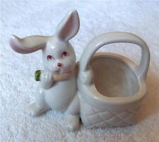 Fitz and Floyld vintage impish bunny rabbit basket toothpick holder~1978-Nr