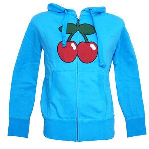 Pacha Ibiza Men's Zip up Hoodie Basic Cherry Logo TURQUOISE Sweater Eivissa