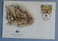 First day of issue, 1987 Swaziland, Honoring the White Rhino, WWF