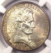 1918 Lincoln Illinois Half Dollar 50C - NGC Uncirculated Details (UNC MS BU)