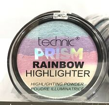 TECHNIC PRISM RAINBOW HIGHLIGHTER FACE POWDER SHIMMER COMPACT PRESSED POWDER