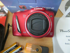 Canon PowerShot SX150 IS 14.1MP Digital Camera - Red EXCELLENT CONDITION