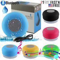 Waterproof Bluetooth Speaker Wireless Portable Mic Car/ Bathroom Shower Speaker
