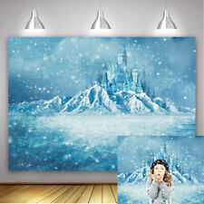 Winter Frozen World Backdrop Ice Crystal Castle Backdrop for Kids Birthday Party