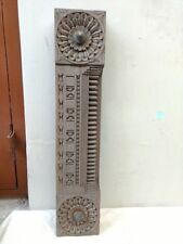 Antique Door Panel Wooden Beam Wall panel Brass Knob Old Architecture Decor Rare