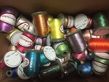Lot of 24 LARGE Spools (1100 yards each) Polyester Embroidery Machine Thread