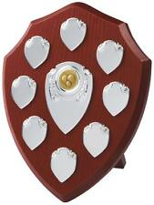 "10"" veneered wood Annual Shield (RRP £47.95) with free engraving and postage"