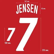 Jensen 7. Denmark Home football shirt 1992 - 1993 FLOCK NAMESET NAME SET