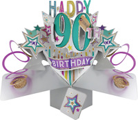 90th Birthday Pop Up Card 3D Pop Up Card Age 90