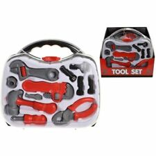 Kids Childrens Tool Kit Box Case Role Play Set Screwdriver Pretend DIY Education
