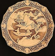 "1982 Dynasty ""Carved Ivory Look"" Plate by Arnart Imports,Asian Zen Collection"