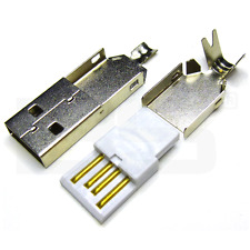 USB A mâle de type A trois pièces connecteur USB mâle a souder DIY