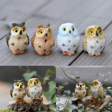 Mini Owl Garden Ornament Miniature Home Figurine Craft Animals Decoration Toys