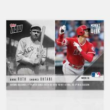 2018 TOPPS NOW #MOW-18 SHOHEI OHTANI/BABE RUTH 10 HRs AND 40 IP IN A SEASON
