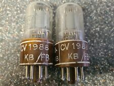 VERY RARE STRONG MATCHED PAIR OF BRIMAR CV1988 6SN7GTY