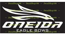 Oneida Eagle Bows - Hunting/Outdoor Sports - Vinyl Die-Cut Peel N' Stick Decals