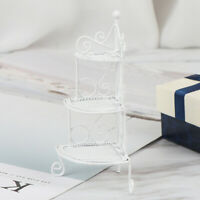 1Pc 1:12 Dollhouse miniature white metal flower rack doll house accessories